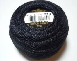 DMC Перле 8 - 310(черно)