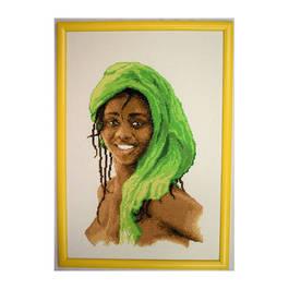 Африканско момиче - в зелено