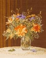Кристална ваза - цветя